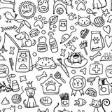 Pet shop background for your design. Vector illustration Royalty Free Stock Images