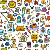 Pet shop background for your design. Vector illustration Royalty Free Stock Photography