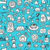 Pet shop background for your design. Vector illustration Stock Images