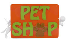 Pet shop banner Royalty Free Stock Image