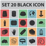 Pet shop black icons in set collection for design.The goods for animals vector symbol stock web illustration. Pet shop black icons in set collection for design Stock Photography