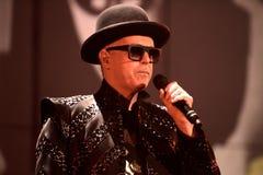 Pet Shop Boys executa no concerto foto de stock