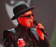 Pet Shop Boys executa no concerto foto de stock royalty free