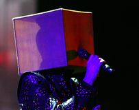 Pet Shop Boys executa no concerto imagem de stock royalty free