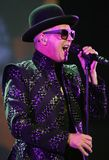 Pet Shop Boys executa no concerto fotos de stock royalty free