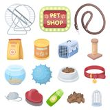 Pet shop cartoon icons in set collection for design.The goods for animals vector symbol stock web illustration. Pet shop cartoon icons in set collection for Royalty Free Stock Photo