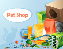 Pet shop concept Stock Photography