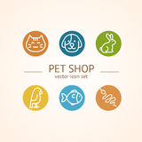 Pet Shop Concept. Vector Royalty Free Stock Images