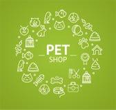 Pet Shop Concept. Vector Stock Photography