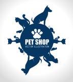 Pet shop design. Stock Photography