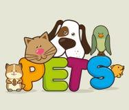 Pet shop design. Royalty Free Stock Photography