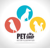 Pet shop design. Royalty Free Stock Photography