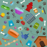 Pet shop, dog goods and supplies, store products for care. Pet shop, dog goods and supplies, store products for dog care Royalty Free Stock Photography
