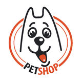 Pet shop with a dog head. Royalty Free Stock Photography
