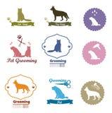 Pet shop emblem set Royalty Free Stock Photo