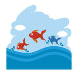 Pet shop with fish  design, Vector illustration. Pet shop concept with icon design, vector illustration 10 eps graphic Royalty Free Stock Images