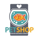 Pet shop with fish. Vector Stock Images