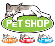Pet shop label Stock Images