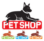 Pet shop label Stock Image
