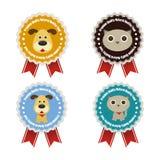 Pet shop labels Stock Images