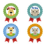 Pet shop labels Royalty Free Stock Photography