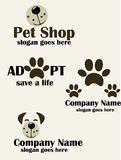 Pet shop logo. Care and services illustration Royalty Free Stock Photos