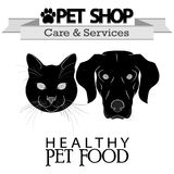 Pet shop logo Stock Images