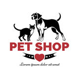 Pet shop logo Royalty Free Stock Images