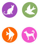 Pet shop logos. Vector illustration, pet shop illustration Stock Photos