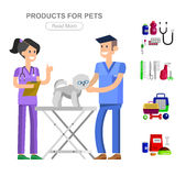 Pet shop. Pets accessories and vet store Stock Photography