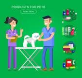Pet shop. Pets accessories and vet store Stock Photo