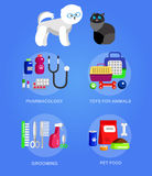 Pet shop. Pets accessories and vet store Royalty Free Stock Photo