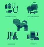 Pet shop. Pets accessories and vet store Royalty Free Stock Images