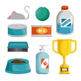 Pet shop products set icons. Vector illustration design Stock Images