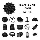 Pet shop set collection icons in black style vector symbol stock illustration web. Collar, pet food and other products. Pet shop set collection icons in black Stock Images