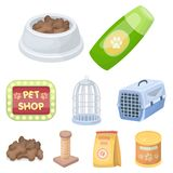 Pet shop set collection icons in cartoon style vector symbol stock illustration web Royalty Free Stock Photos