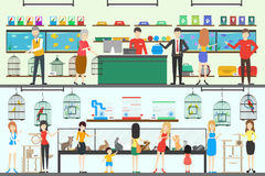 Pet shop set. stock illustration