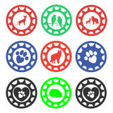 Pet Shop Stamps. Royalty Free Stock Images