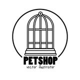 Pet shop symbol cage mascot. Illustration eps 10 Stock Photo