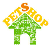 Pet shop symbol Stock Image