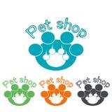 Pet shop symbol. Paw print logo Stock Photo