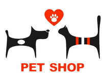 Pet shop symbol with pets Stock Photography