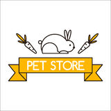 Pet shop symbols vector. Stock Photo