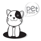 Pet shop. Vector image of pets design on white background Royalty Free Stock Photos