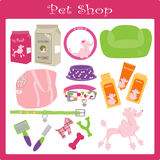 Pet shop1. A illustration  of a pet shop Stock Images