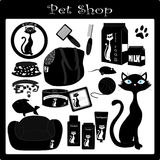 Pet shop2. A collection of cat accesories Royalty Free Stock Photo