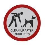 Pet Sign Isolated Stock Images