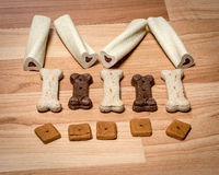 Pet snacks designed for a dog Royalty Free Stock Photography