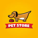 Pet store funny dog symbol Stock Image