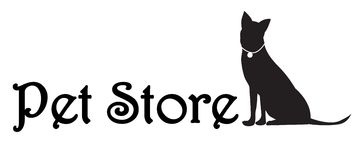 Pet store logo Royalty Free Stock Photography